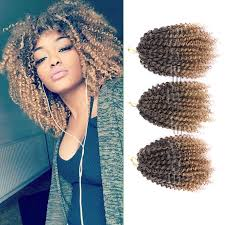 ombre crochet braids 8 12inch crochet hair extensions curly synthetic braiding hair