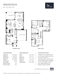 winchester 34 by metricon price floorplans facades display
