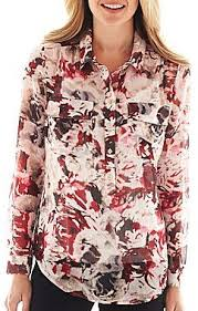 liz claiborne blouses liz claiborne sleeve floral blouse with cami where to