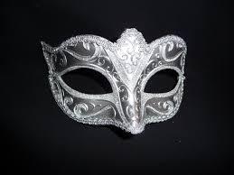 silver mask silver satin eye mask