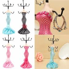 necklace dress holder images Lady mannequin dress ring necklace jewelry display stand holder jpg