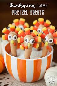 thanksgiving turkey pretzel treats sparkles to sprinkles