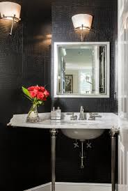 Black And White Powder Room Powder Rooms Go Dramatic Photo 1 Of 5 Pictures The Boston Globe