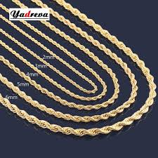 rope gold necklace images High quality 2mm 3mm 4mm 5mm 6mm stainless steel gold necklace jpg