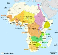 africa map elevation geography of africa