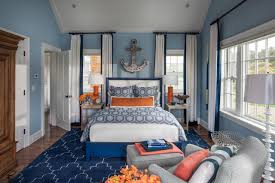 blue wall monochromatic painting ideas for interiors with white