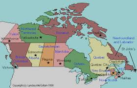 capital of canada map map of canada with cities and capitals major tourist