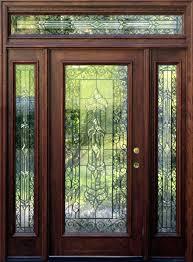 Exterior Glass Door Inserts Front Doors New Front Door Designs Home Ideas Featured Leaded