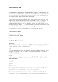 great cover letters for jobs write good cover letter