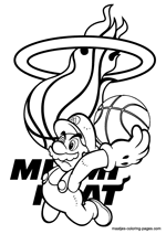 lakers coloring pages miami heat nba coloring pages