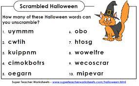 Halloween Crosswords Puzzle Printable super teacher worksheets u0027 subreddit