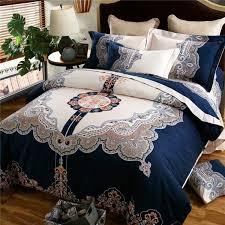 boho bohemian designer royal blue bedding sets king queen size