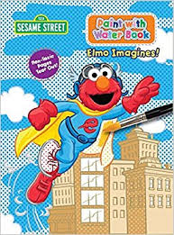 sesame street paint water activity book elmo imagines