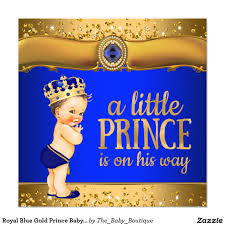 royal blue gold prince baby shower invitations prince baby