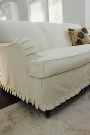 No Sew Slipcover For Sofa by Custom Slipcovers By Shelley Cream Duck Cloth Couch Slip Covers