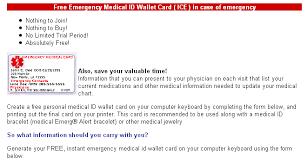 medical alert wallet card template 6 best u0026 professional templates