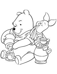 tea winnie pooh piglet coloring u0026 coloring