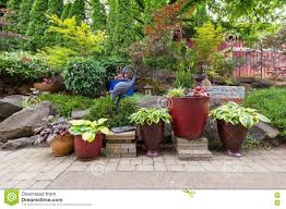 outstanding stone landscaping ideas with backyards trendy pictures of landscaping small yards design yard