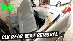 mercedes clk w208 rear seat removal replacement clk320 clk430