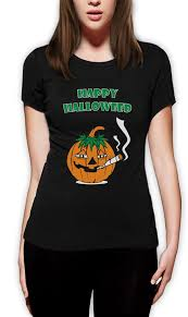 Marijuana Halloween Costume Happy Halloweed Women Shirt Halloween Funny Stoner Costume Weed