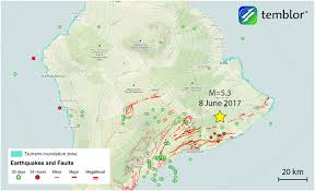 Hawaii Lava Flow Map M U003d5 3 Earthquake Shakes Hawaii U0027s Big Island Temblor Net