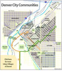 central denver neighborhoods map denver mappery