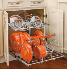 kitchen cabinet organizers for pots and pans creative storage solutions for bulky pots and pans tiered