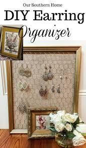 Thrift Store Diy Home Decor by Diy Earring Organizer Diy Earrings Craft And Repurposing