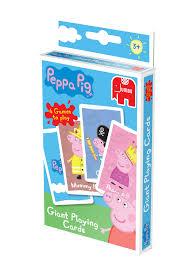 peppa pig giant playing cards jumbo