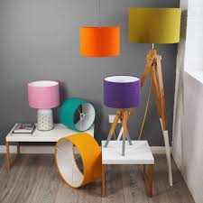 bright mustard yellow harris tweed lampshade by quirk