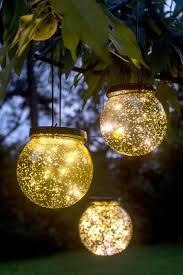 Round Solar Lights by Solar Globe Lights Fairy Dust Ball Gardeners Com