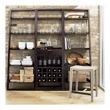 Crate And Barrel Bookshelves by Sloane Espresso Leaning Wine Bar In Dining Kitchen Storage