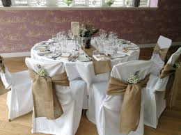 White Banquet Chair Covers Chair Covers Wedding Burlap Recherche Google Fête Champêtre