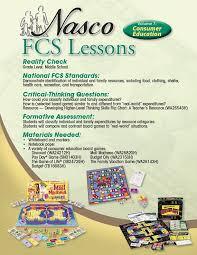 nasco lesson plan 7 consumer education fcs online catalog
