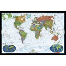 The World Political Map by World Decorator Wall Map National Geographic Store
