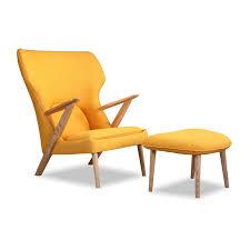 Mid Century Modern Outdoor Furniture Kardiel Cub Mid Century Modern Lounge Chair And Ottoman Wayfair