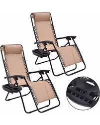 amazing deal on costway 2pc zero gravity chairs lounge patio