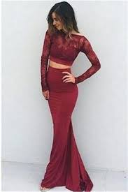 2017 new arrival burgundy maroon hight neck lace long prom dress
