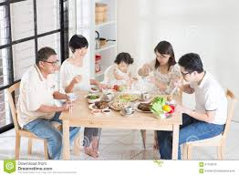 family garden chinese asian chinese family dinner stock photo image 57159210