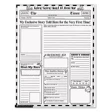 Amazing Free Printable Newspaper Templates Ideas Example Resume
