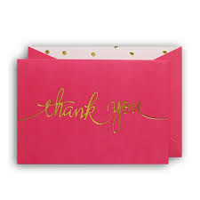 thank you cards tickled pink thank you cards box of 10