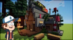 minecraft construindo a cabana do mistério de gravity falls