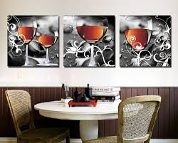 paintings for dining room cuadros decoracion household wine glasses 3 piece canvas wall art