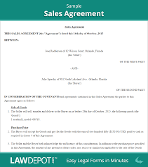 Letter Of Intent Legal Effect by Sales Agreement Form Free Sales Contract Us Lawdepot
