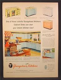 youngstown kitchen cabinets by mullins magazine ad for youngstown kitchens steel cabinets sinks 1955