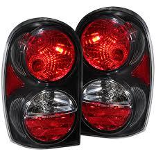 jeep usa anzo usa jeep liberty 02 07 tail lights black euro tail lights