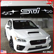 subaru forester decals sti decal subaru windshield banner wrx decal window graphic large