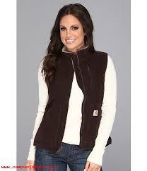 light brown vest womens winter autumn products women s carhartt sandstone mock neck