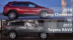 2018 Jeep Cherokee Vs 2017 Toyota Rav4 Technical Comparison