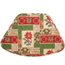 patchwork christmas quilt wedge shaped round table placemats at